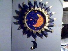 CELESTIAL Sun Moon & Stars LARGE Pendulum Clock...