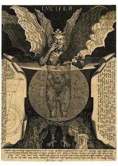 Lucifer, Engraving by Cornelis Galle I, After Lodovico Cigoli, Belgium, 1591-1650