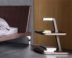 unique wooden bed side table