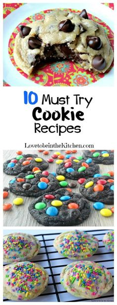 10 Must Try Cookie Recipes- 10 of the best cookies you'll ever have!