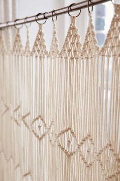 Image result for macrame half window curtain