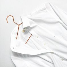 white shirt copper hanger hay Copper Hangers, Chef Jackets, Classy, Pure Products, White White, Shirts, Simple, Interior, Fashion
