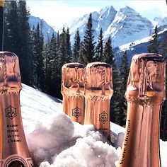 """Champagne & Snow, perfect ski lunch."