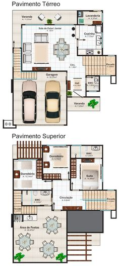 Houseplants: Modern designs that inspire you Beach House Plans, Dream House Plans, Modern House Plans, Small House Plans, House Floor Plans, One Storey House, 2 Storey House Design, House Design Drawing, House Drawing