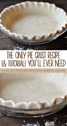 The Best and Only Pie Crust Recipe {& Tutorial} You'll Ever Need (Best Pie Crust) Homemade Pie Crusts, Pie Crust Recipes, Pastry Recipes, Baking Recipes, Amish Pie Crust Recipe, Bisquick Pie Crust, Single Pie Crust Recipe, Pumpkin Pie Crust Recipe, Soul Food
