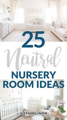 Here are some neutral nursery room ideas. These are soft and simple ideas to get you started on your nursery room. Inspiration for gender neutral nurseries with white, grey, beige, taupe, or ivory colors. Baby Room Design, Nursery Design, Baby Room Decor, Baby Rooms, Baby Bedroom, Newborn Nursery, Baby Nursery Neutral, Neutral Nurseries, Twin Nurseries