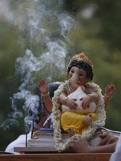 Ganapati with his modak. Hare Krishna, Krishna Art, Indian Gods, Sri Ganesh, Lord Ganesha, Lord Shiva, Ganesha Painting, Ganesha Art, Lord Murugan