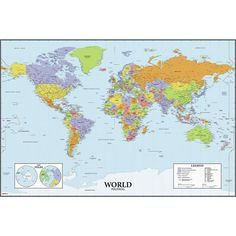 Learn the countries of the world or keep track of your travels with our dry erase world map! Great for any bedroom, office or classroom, this removable and repositionable wall decal can be applied to any smooth, flat surface. Like all RoomMates products, the decals won't damage your walls or leave behind any unwanted residue.
