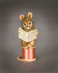 The Mouse Tailor, one of the characters from the Beatrix Potter children's classic The Tailor of Gloucester. Only 585 pieces of this doll were produced in 2002.