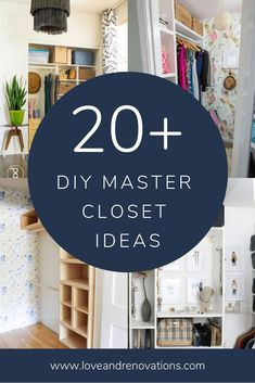 Ideas for how to organize and customize a master closet. These DIY closet ideas are sure to give you inspiration for your home! Home Office Organization, Organizing Your Home, Organization Ideas, Home Design Decor, House Design, Home Decor, Interior Design, Diy Master Closet, Master Bedroom