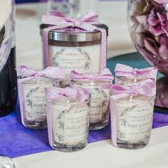 Personalised Wedding Favour Votive Candles - Candles by Simply Flowers