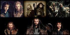 Fili, Thorin Oakenshield and Kili Fili Et Kili, Tauriel, Dean O'gorman, Thorin Oakenshield, All Hero, Jrr Tolkien, Aidan Turner, The Heirs, Middle Earth