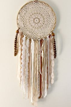 Dream Catcher Large Dreamcatcher Doily Dream by WhitetailRoad