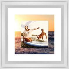 Picture in Picture Gallery of Two Framed Print, White, Classic, None, White, Single piece, 12 x 12 inches