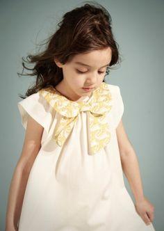 From Kids Fashion Love Tumblr.  Bow Collar Dress.