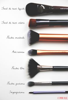 Beauty: how to use your different make-up brushes - Oh My Mag - - Beauté : comment utiliser vos différents pinceaux à maquillage Makeup brushes: which brush for which use? Makeup Guide, Makeup Tools, Makeup Brushes, Eye Makeup, Beauty Brushes, Prom Makeup, Makeup Artists, Makeup Geek, Eyeliner