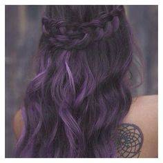 These 25 Purple Hairstyles Will Make You Want to Dye Your Hair ❤ liked on Polyvore featuring beauty products, haircare and hair color