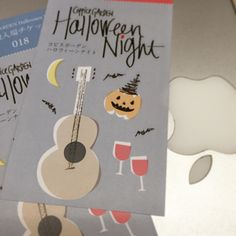 Did the illustration for Halloween event tickets. Fun project:)