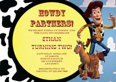 Custom Printable WESTERN WOODY Toy Story by thepaperblossomshop, $10.00