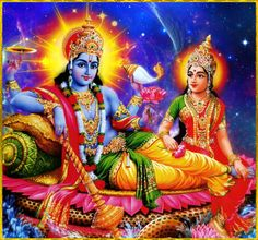 """☀ SHRI LAKSHMI NARAYANA ॐ ☀Sri Brahma said:""""From that Personality of Godhead, all the universal globes and the universal form with all material elements, qualities and senses are generated. Yet He is aloof from such material manifestations, like the sun, which is separate from its rays and heat.""""~Srimad Bhagavatam 2.6.22"""