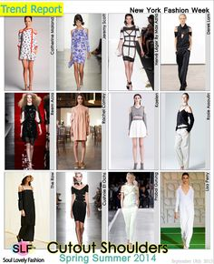 Cutout Shoulers Fashion #Trend for Spring Summer 2014 at New York Fashion Week #NYFW  #Cutout  #Spring2014 #Trends
