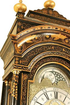 18th Century Chinoiserie decorated Longcase Clock