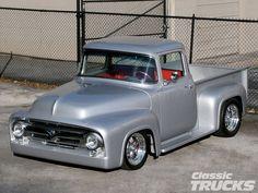 A Brief History Of Ford Trucks – Best Worst Car Insurance Ford 56, 1956 Ford Truck, F100 Truck, 1956 Ford F100, Old Ford Trucks, Old Pickup Trucks, Hot Rod Trucks, Cool Trucks, Silverado Truck