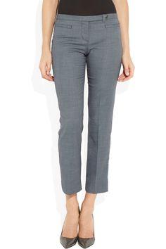 Tory Burch|Pierra cropped stretch wool-blend pants