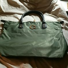 Wonder Tote ( nwot ) Brand new nylon tote with brown  leather handles. Mint condition Wonder  Bags Totes