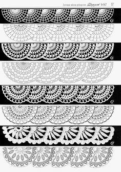 Crochet Patterns Lace Crochet Lace Edging for Handtowel ~~ sandragcoatti - Salvabrani Learn to Crochet – Crochet Wave Fan Edging. Crochet Edging Patterns, Crochet Lace Edging, Crochet Borders, Crochet Diagram, Crochet Chart, Crochet Designs, Crochet Flowers, Russian Crochet, Irish Crochet