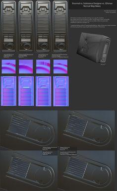Normal Map Bake Off: Xnormal vs 3Dsmax vs Substance Designer Bakes [Large Image] - Polycount Forum