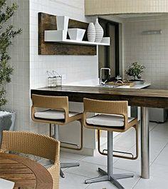 Bancada Americana em cozinha - kitchen
