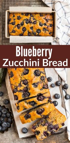 This healthy Blueberry Zucchini Bread recipe is moist, easy and delicious for summer and beyond! Made with Greek yogurt, whole grains, and a touch of lemon.#vegetarian #greekyogurt #healthysnack @wellplated Blueberry Zucchini Bread, Zucchini Bread Recipes, Greek Yogurt Recipes, Easy To Make Desserts, Delicious Breakfast Recipes, Incredible Recipes, Sugar Cravings, No Bake Treats, Going Vegan