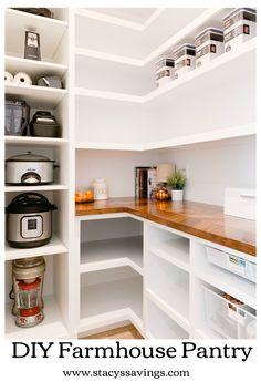 Kitchen Furniture, Kitchen Decor, Kitchen Ideas, Furniture Design, Scullery Ideas, Pantry Shelving, Pantry Storage, Open Shelving, Shelving Ideas