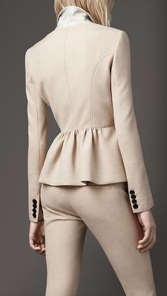 Tailored Peplum Jacket | Burberry