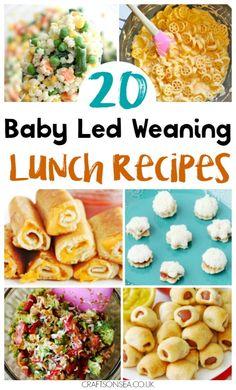 These baby led weaning lunch ideas are tried and tested and perfect for the whole family. Get inspired with some new easy recipes you'll all love! #blw #fingerfood #blwideas