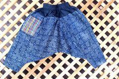 Kids Harem Pants Bohemian Trousers Hmong Indigo Batik by Dek Doi,  #Childrens #clothing #indigo #Bohemian #Hmong