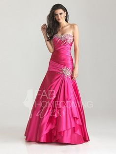 2013 Style Trumpet / Mermaid Sweetheart Rhinestone Sleeveless Floor-length Elastic Woven Satin Prom Dresses / Evening Dresses (SZ0305720) - FabHomecomingDress.com