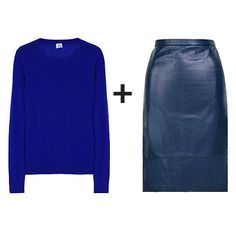 indigo blue leather skirt!