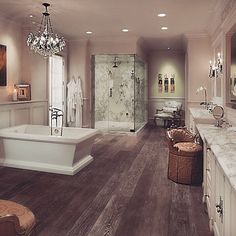 Master Bathrooms Pictures beautiful and so much storage space!@hawksviewhomeskw --love