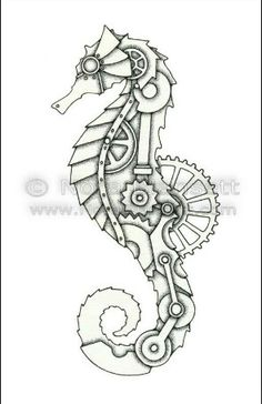 Steam punk seahorse