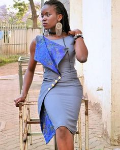 Envelope inspired dress for Latest African Fashion Dresses, African Print Dresses, African Dresses For Women, African Print Fashion, Africa Fashion, African Attire, African Wear, African Women, Fashion Prints