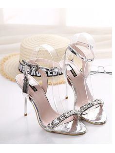 Club imitation crystal sweet slim heel sandals YS-C5654-Lovelyshoes.net