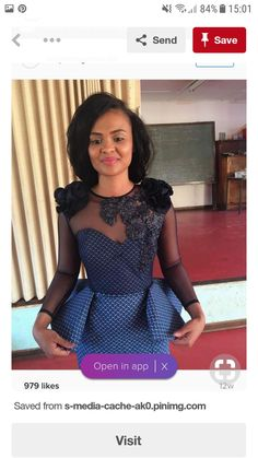 Ideas of Shweshwe Styling with Modern Outfits - Reny styles African Wedding Attire, African Attire, African Wear, African Women, African Style, African Print Dresses, African Print Fashion, African Fashion Dresses, African Dress