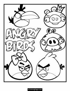 Angry Birds Car Coloring Pages For Boys