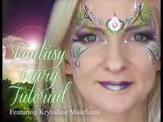 Fantasy Fairy Face Painting Makeup Tutorial
