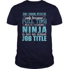 BONE-COOKING OPERATOR Ninja T-shirt