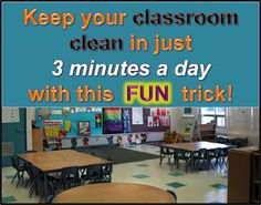 "Your Teacher's Aide: The 3 Minute Classroom Clean-Up. Give each student a wipe. Start the song ""Rockin' Robin."" They wipe down everything they can while the song plays. Student must be back in their seats and silent at the end of the song. Clean Classroom, Owl Theme Classroom, Classroom Behavior, Kindergarten Classroom, Future Classroom, School Classroom, Classroom Ideas, Kindergarten Routines, Classroom Routines"