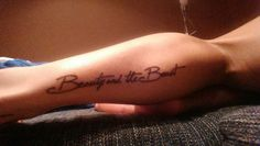 Beauty and the Beast tattoo.. luv