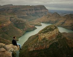 "SOUTH AFRICA...Blyde River Canyon Nature Reserve (also known as Motlatse Reserve) is located in eastern Mpumalanga, South Africa. The park has many steep cliffs, rivers and a large reservoir, the view is breathtaking and there are many famous lookout points like – ""God's Window"" , ""Devil's Window"" and ""The Three Rondvels viewpoint""."